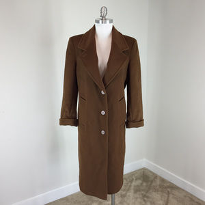 Vintage Ashley Scott S P 100% wool Brown coat